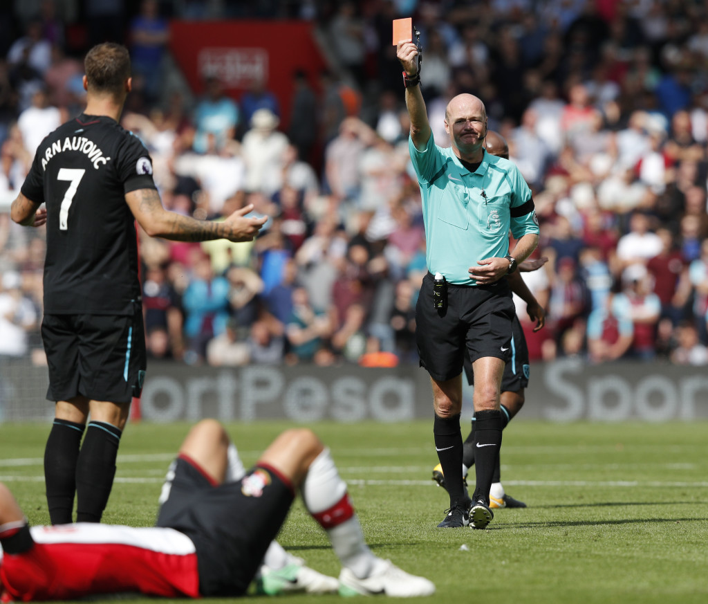 Getting sent off is the only noteworthy moment of Arnautovic's West Ham career.