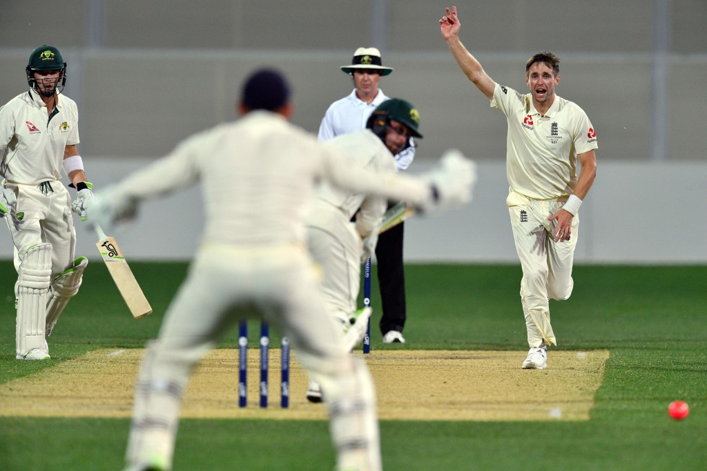 Chris Woakes' bowling spell rescued England after a dismal batting display.