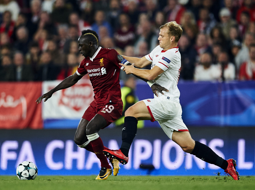 Johannes Geis looked lost against Liverpool's attack.