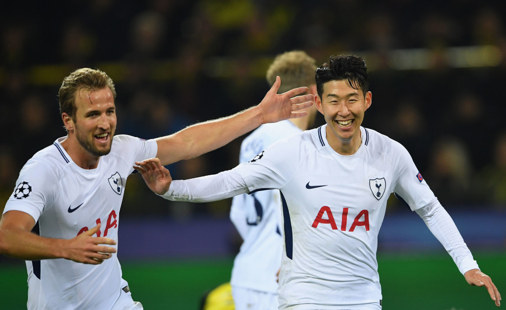 Son scored Spurs' winner after Kane's far-post run created space in the box.
