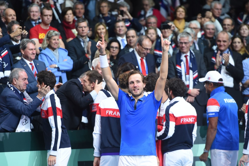 Lucas Pouille sealed a dramatic Davis Cup victory for France.