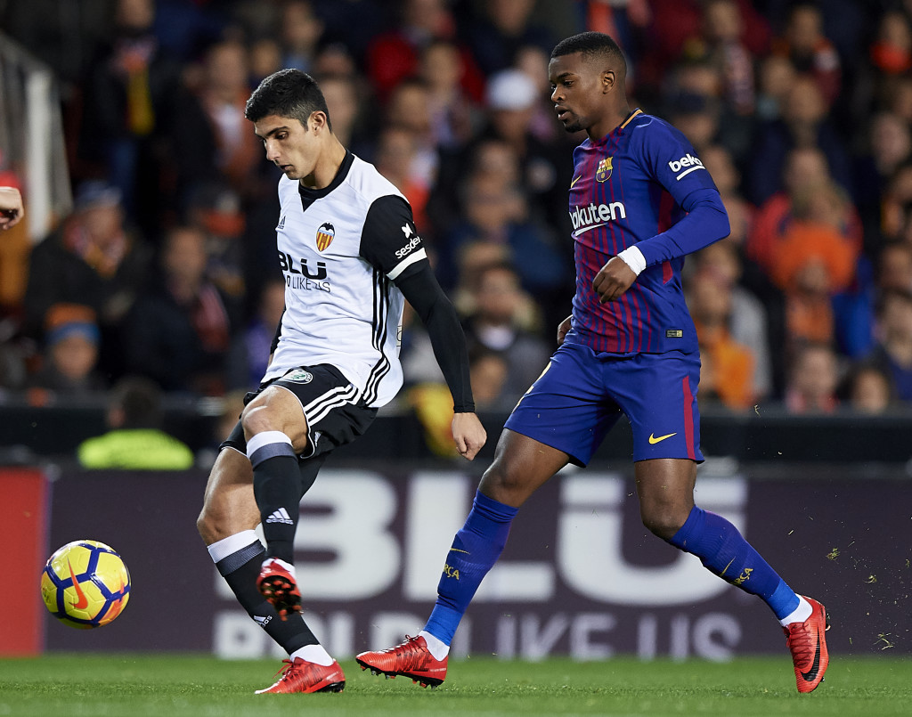 Goncalo Guedes starred down Valencia's left-hand side.