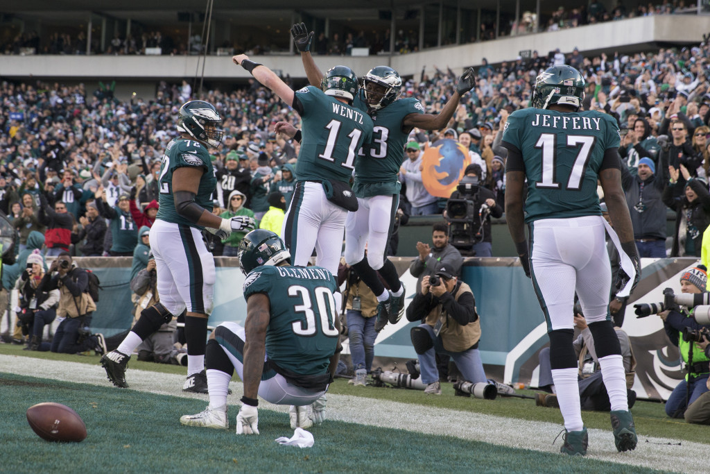 The Eagles play like they're having fun, and celebrate like it, too.