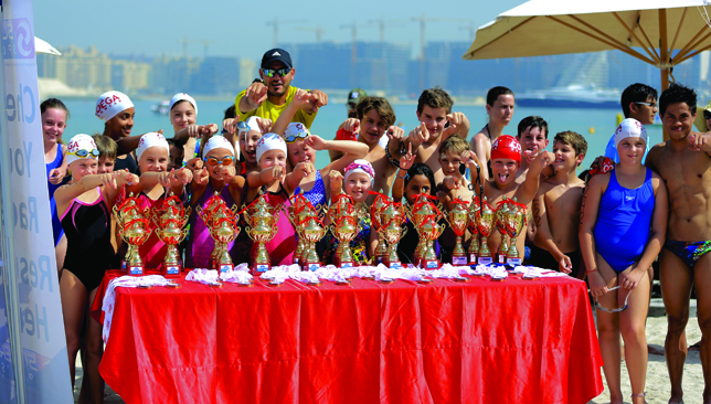 Water babies: There are plenty of distances and categories for swimmers of all ages to participate in.