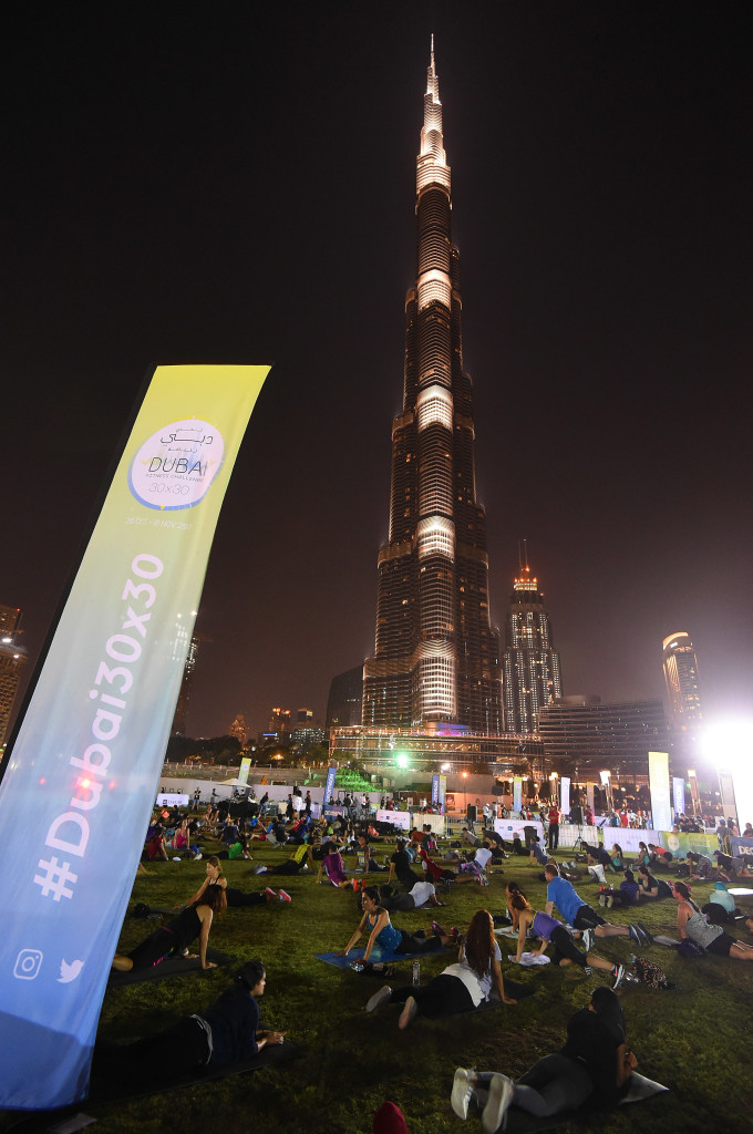 xxx during the Dubai Fitness Challenge at Burj Park on November 10, 2017 in Dubai, United Arab Emirates.