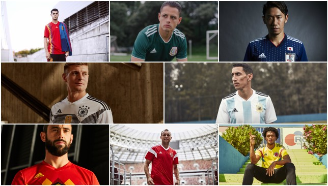 meet 371e9 5b21a Rating the new adidas home kits for 2018 World Cup as Russia ...