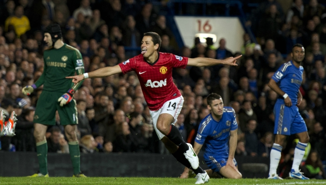 Javier Hernandez gave Manchester United an early lead.