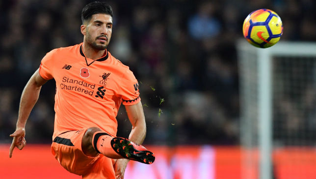 Could feature for Liverpool: Emre Can
