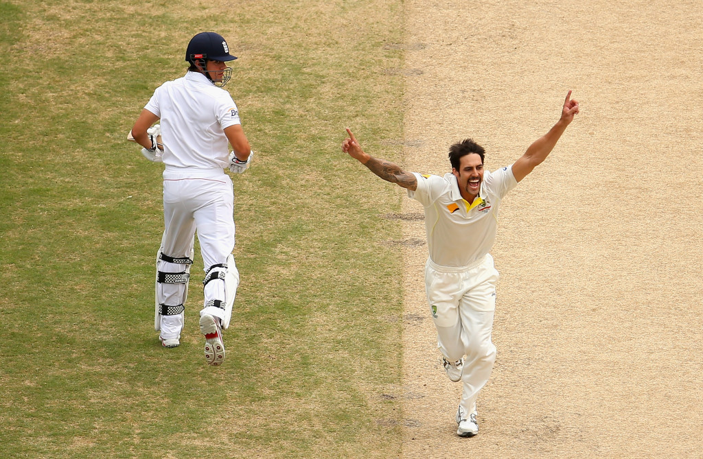 A Mitchell Johnson inspired Australia blew England away at the Oval.