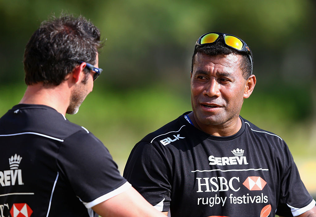 Fijian great Waisale Serevi surprised the team with a special training session.