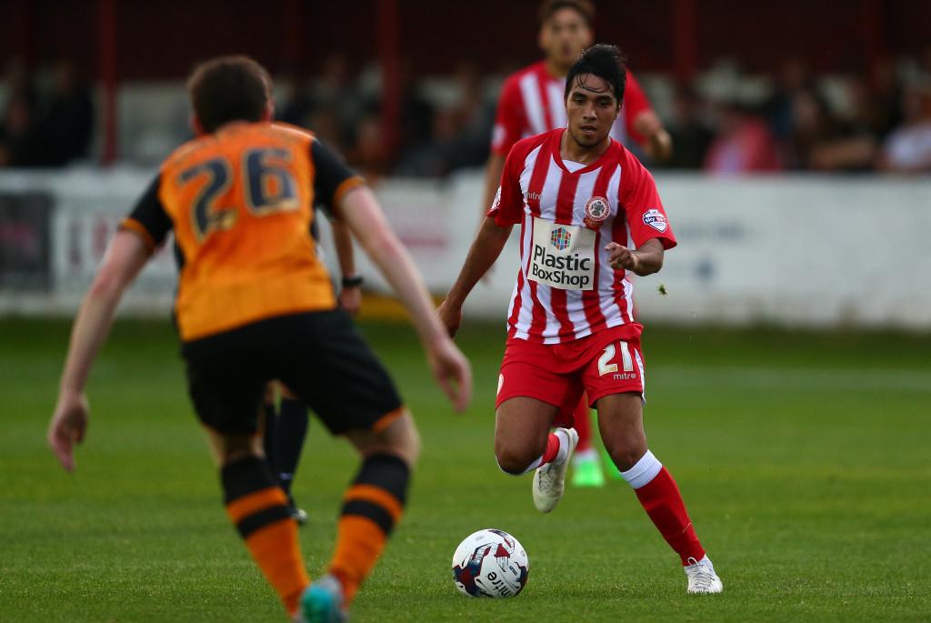 Gerardo Bruna in action for Accrington Stanley in 2015