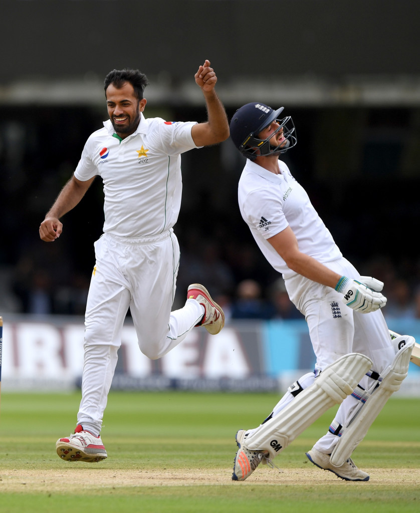 LONDON, ENGLAND - JULY 17: England batsman James Vince reacts after being dismissed by Wahab Riaz during day four of the 1st Investec Test match between England and Pakistan at Lord's Cricket Ground on July 17, 2016 in London, England. (Photo by Stu Forster/Getty Images)