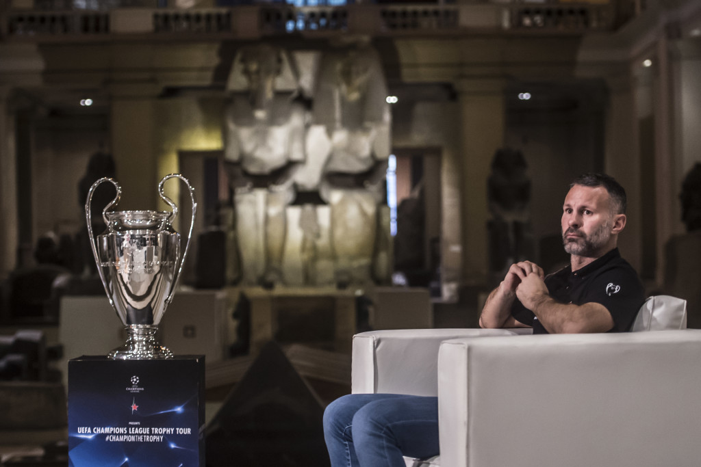 Ryan Giggs at the Egyptian Museum in Cairo last April.