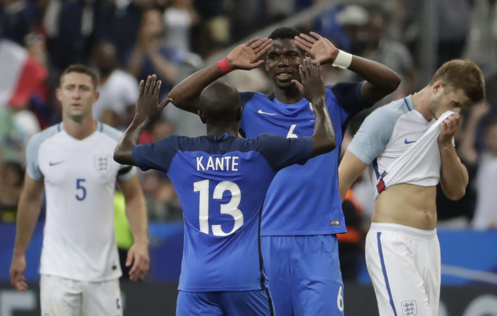 France duo Paul Pogba and N'Golo Kante