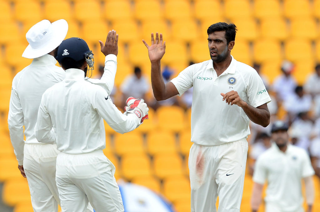 Ashwin picked up four wickets on the day.