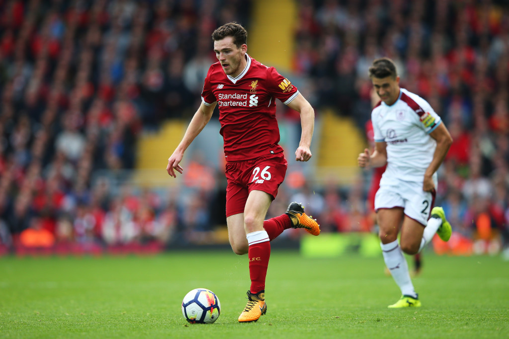 Robertson in his sole league game against Burnley
