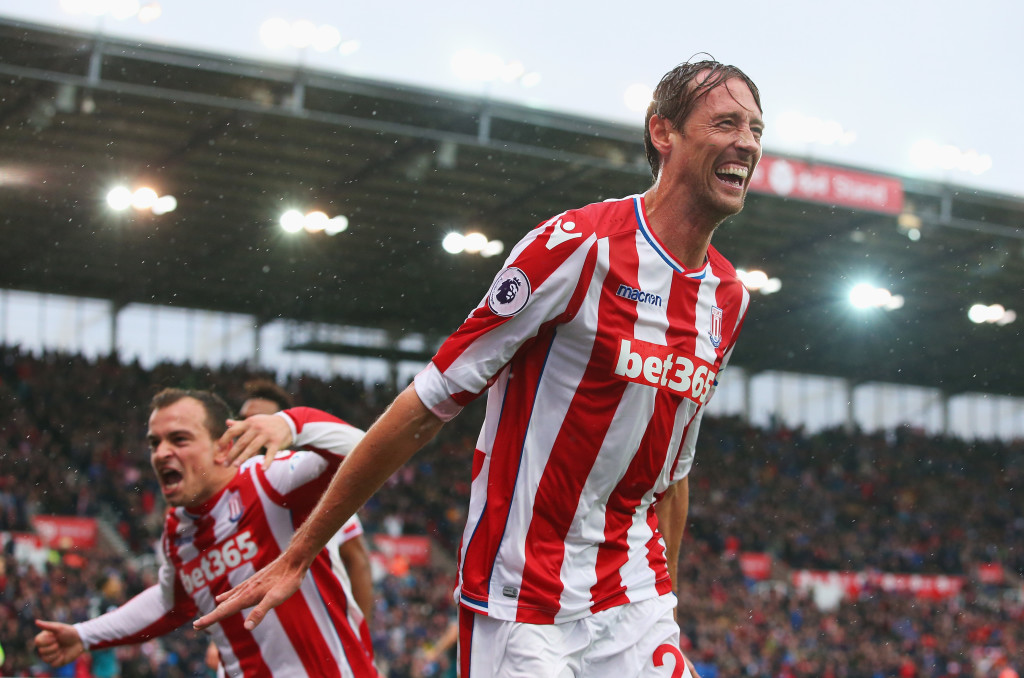 Stoke frontman Peter Crouch