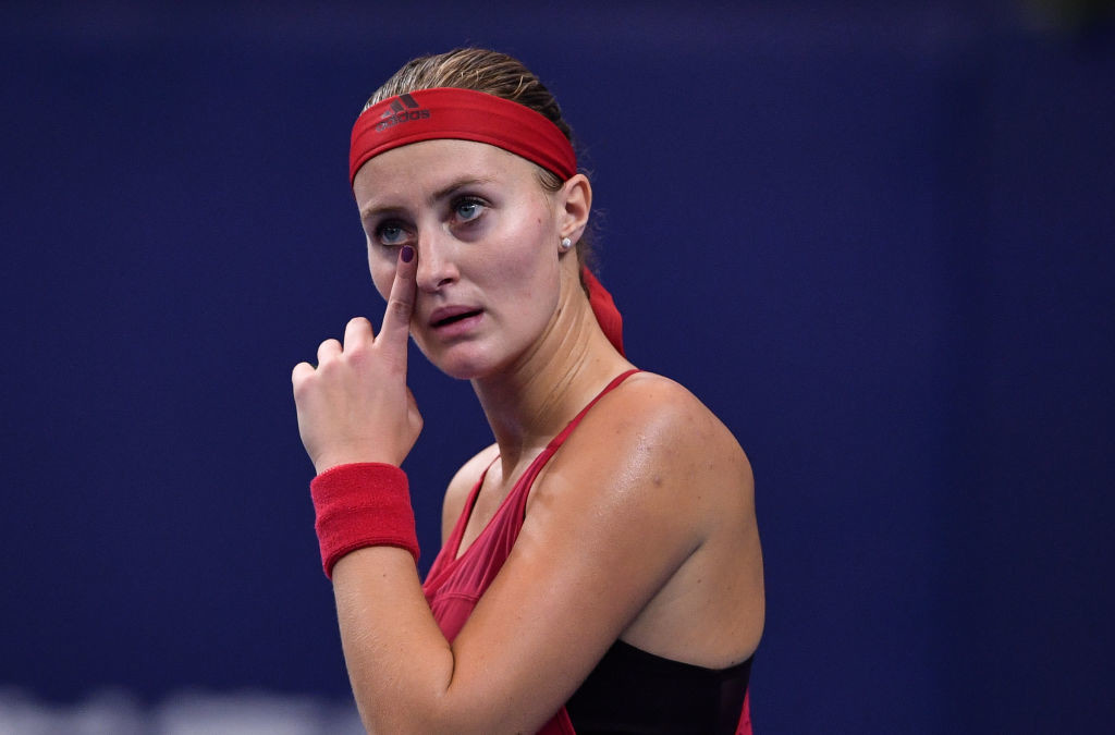Top seed Kristina Mladenovic was also defeated in a tight match.