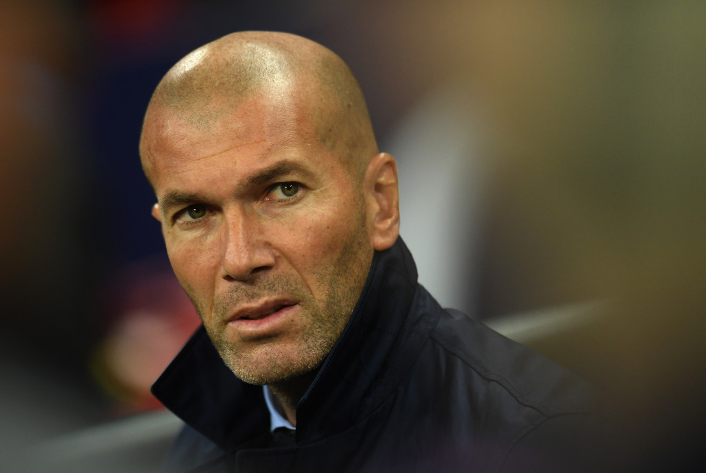 Zidane looks on as he side fall to defeat at Wembley