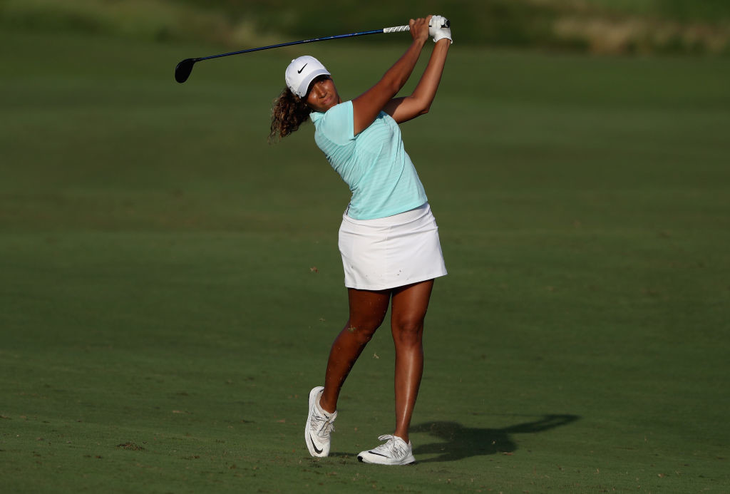 USA's Cheyenne Woods impressive display saw her climb to the second spot.