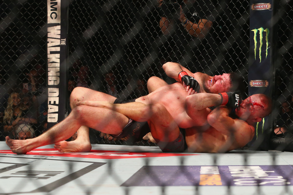 GSP chokes out Bisping to claim the middleweight title