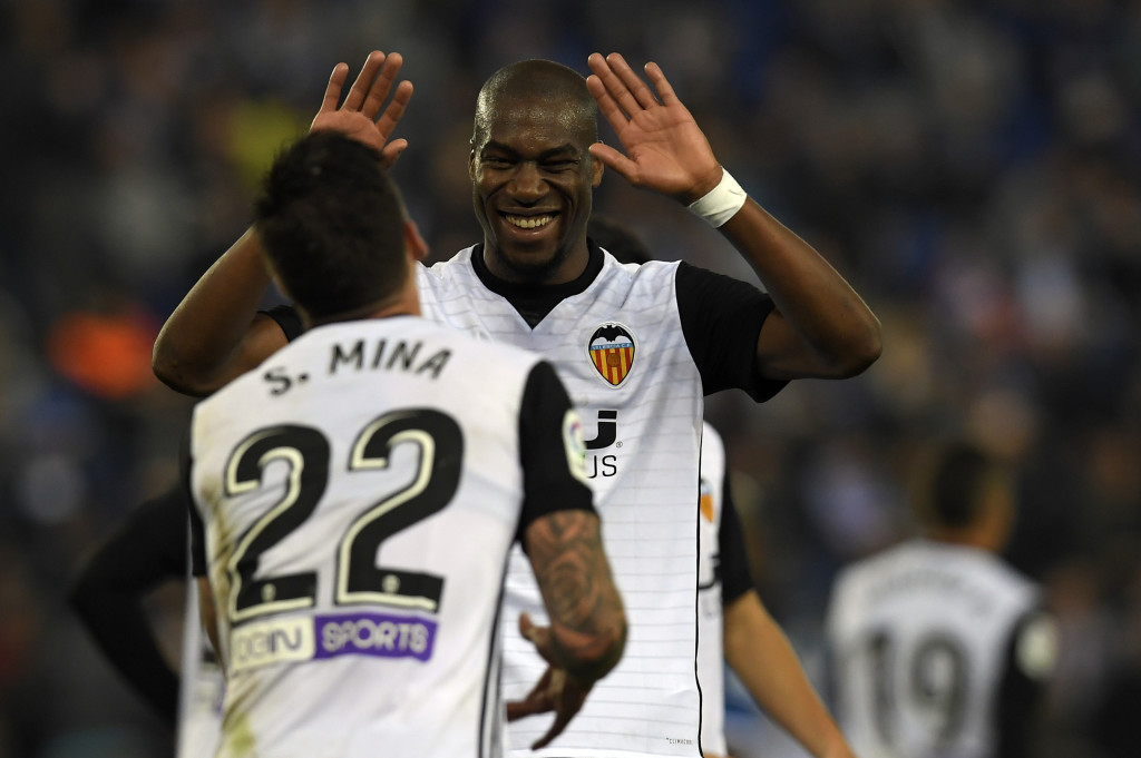 Kondogbia celebrates his striker against Espanyol