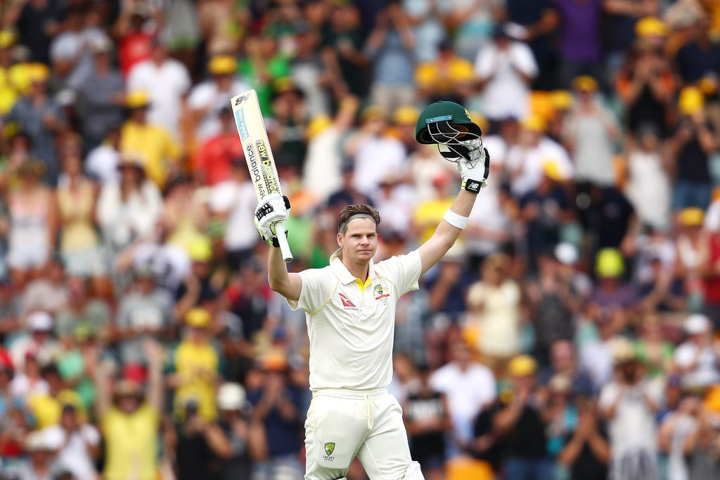 Smith's unbeaten hundred paved the way for Australia's victory.