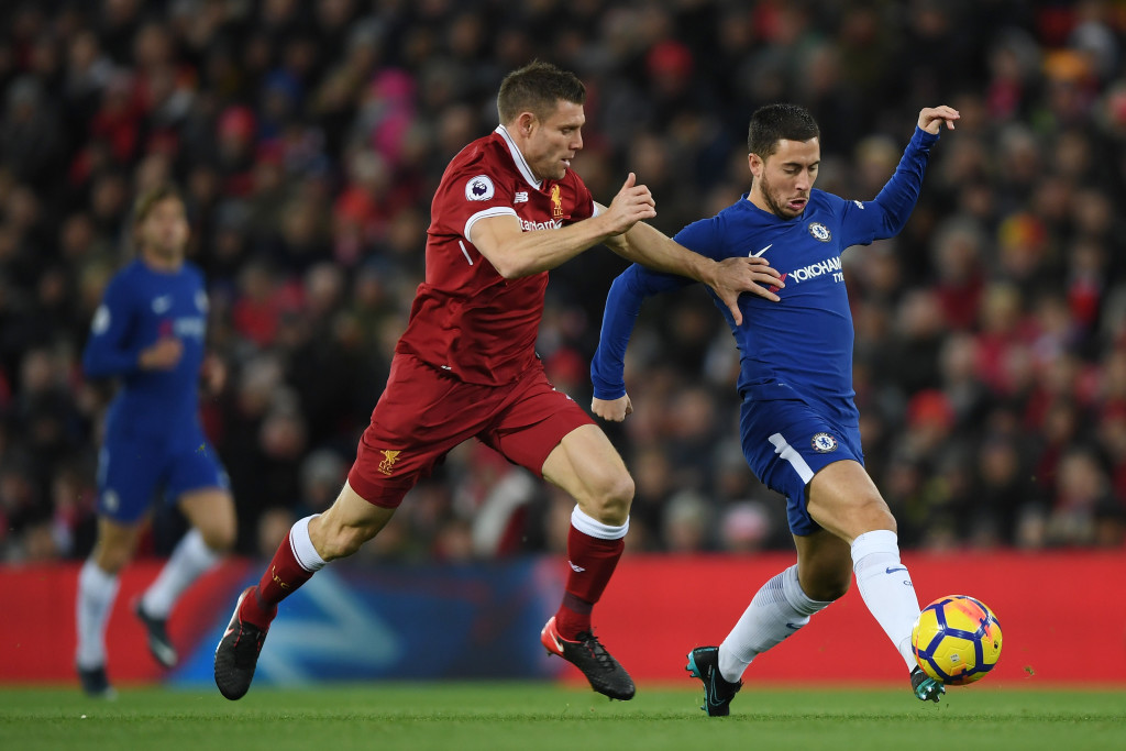 Hazard skips away from Milner