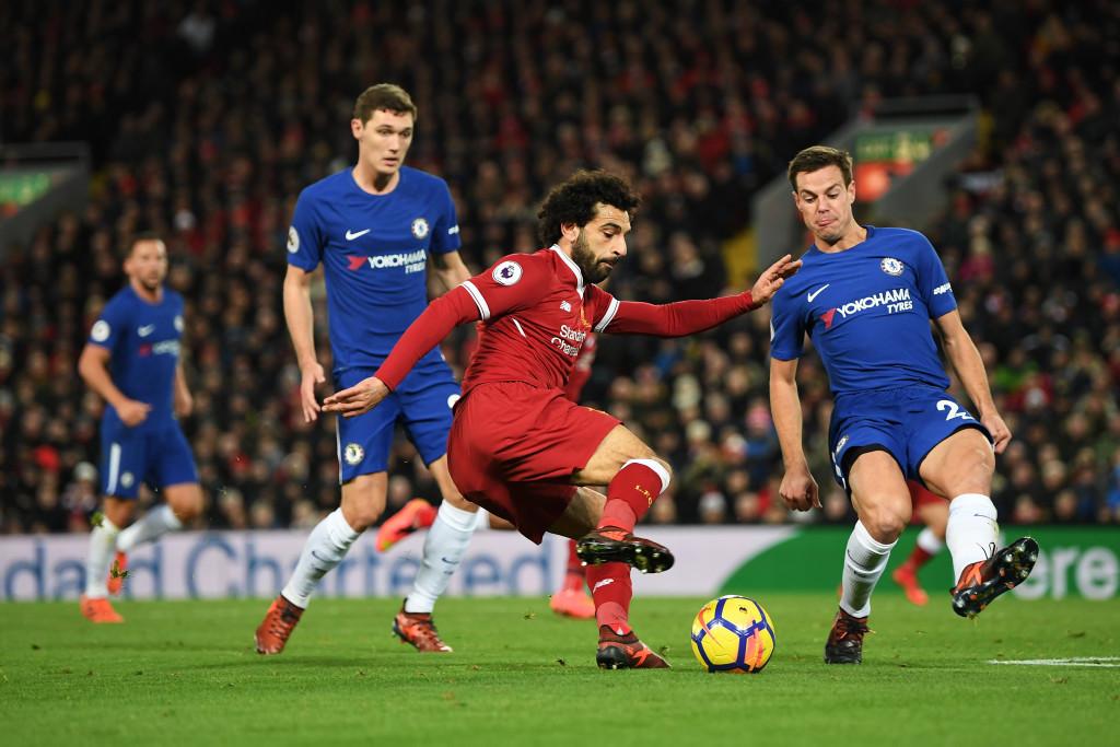 Salah slots home his 15th goal of the season