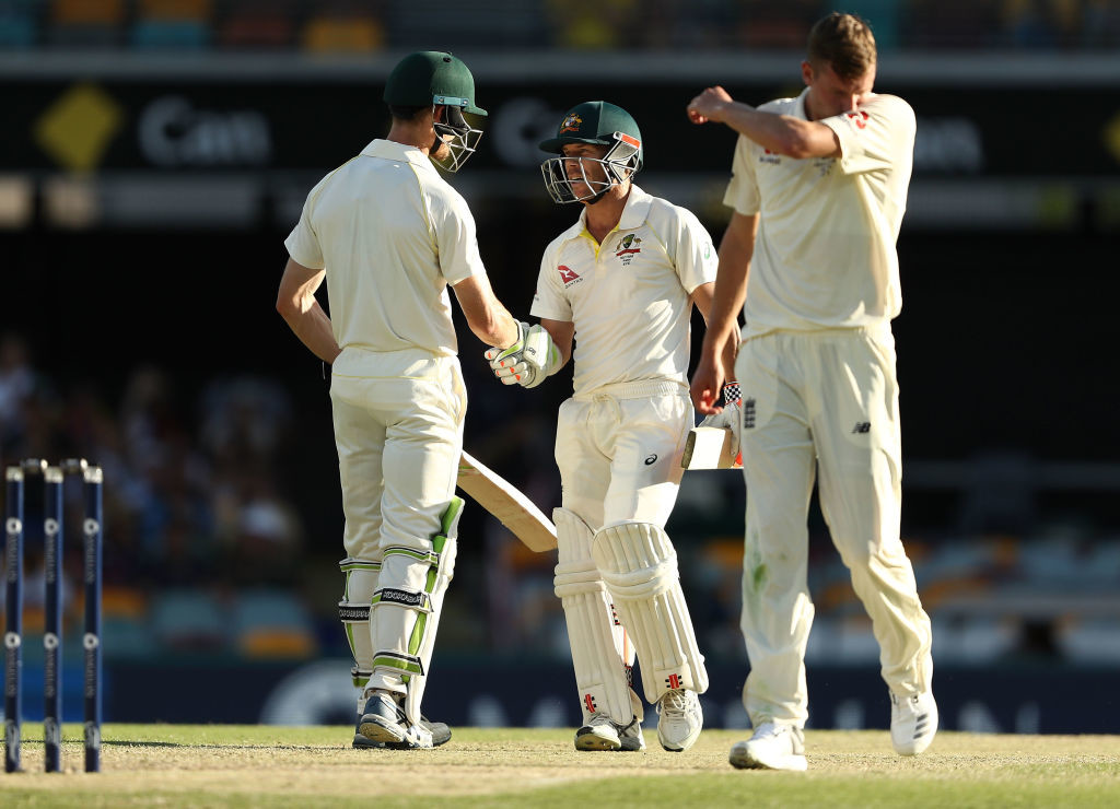 Jake Ball was dealt with comfortably by Australia's batsmen.