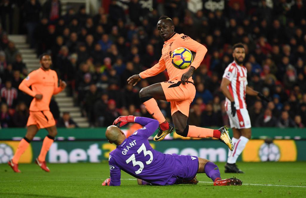 Sadio Mane scores vs Stoke