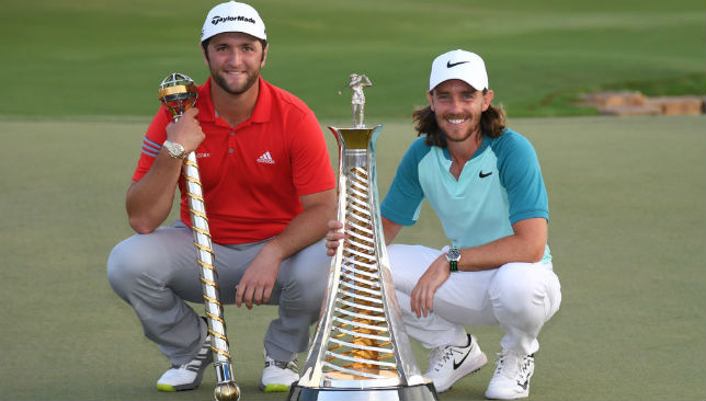 With their trophies: Jon Rahm and Tommy Fleetwood