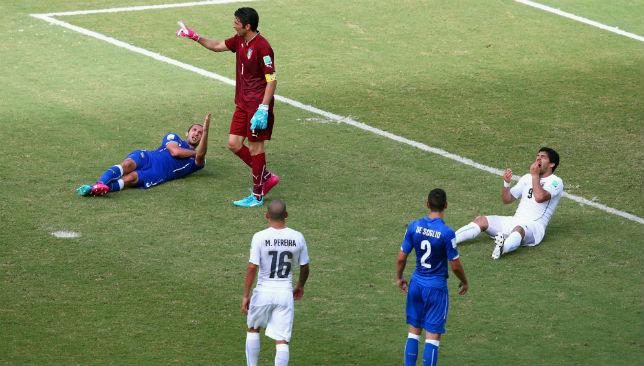 Controversy: Uruguay's Luis Suarez was handed a ban after biting Italy defender Giorgio Chiellini.