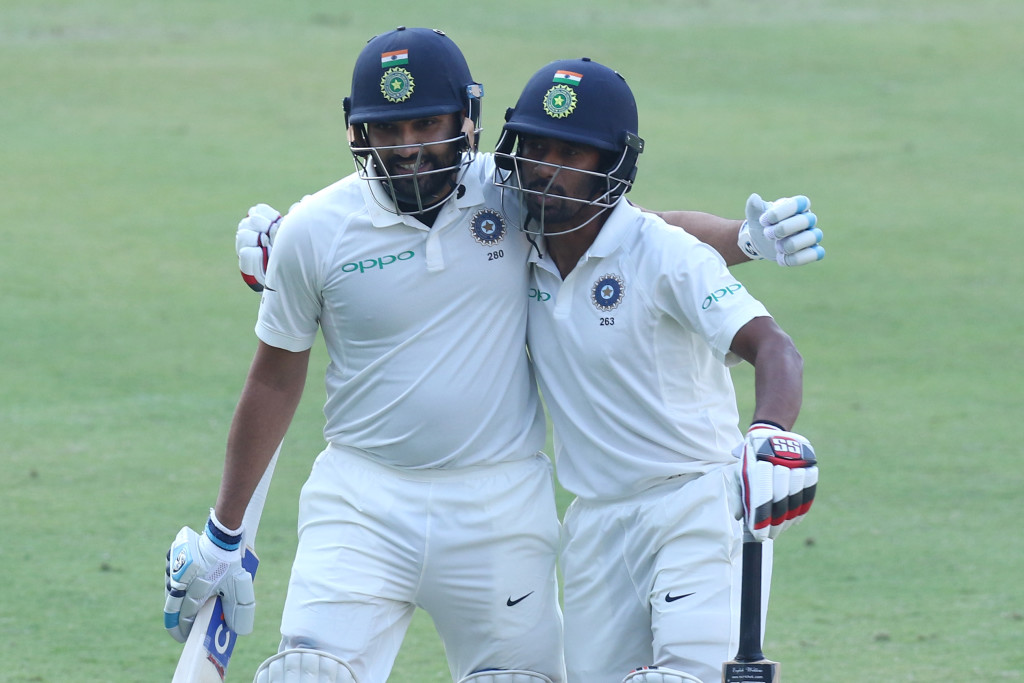 Rohit Sharma (l) made the most of his opportunity.
