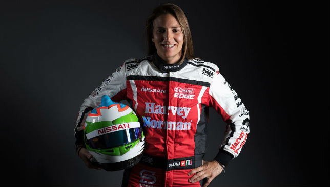 Posing for the 2017 Supercars Media Day: Simona de Silvestro