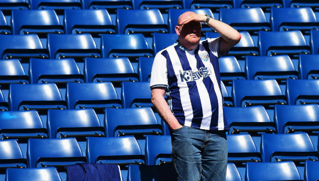 Will be hoping for better things in the near future: West Brom fans