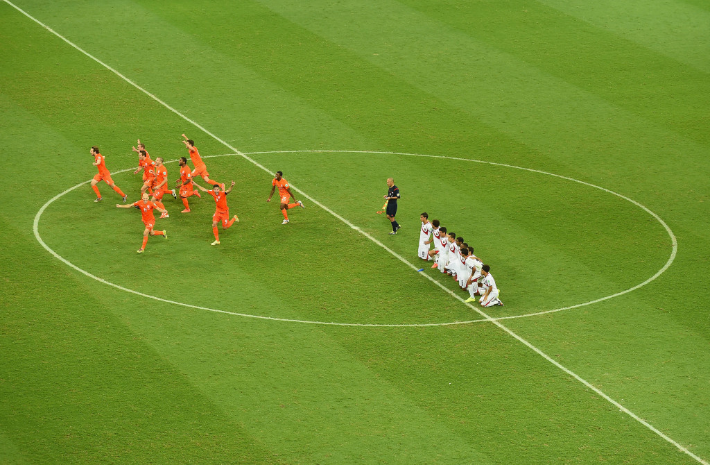 Netherlands' penalty shoot-out victory over Costa Rica provided the drama in the 2014 quarter-finals.