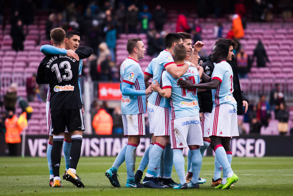 Celta Vigo hurt Barcelona on the counter in the 2-2 draw.