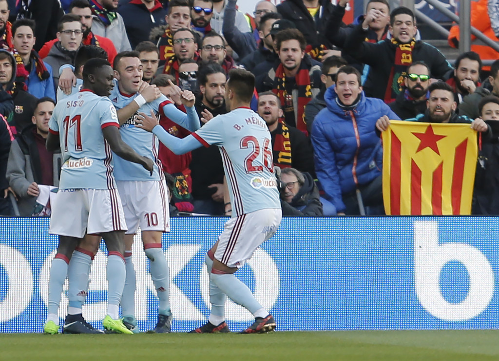 Iago Aspas' star turn earned Celta Vigo a draw.