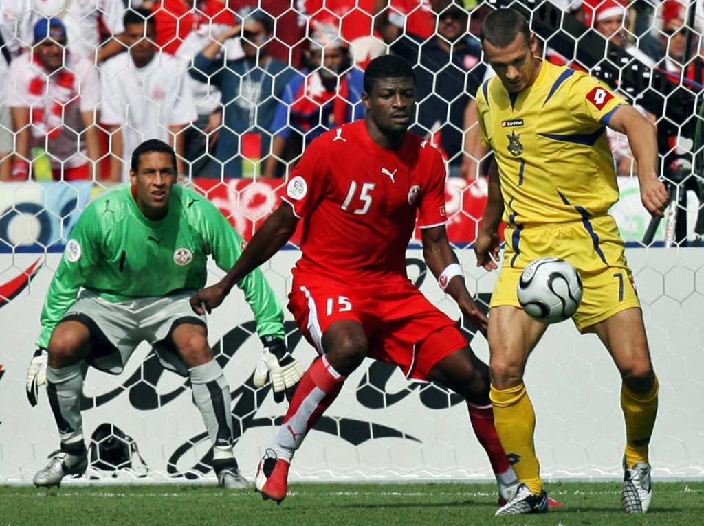 Jaidi against Andriy Shevchenko at the 2006 World Cup.