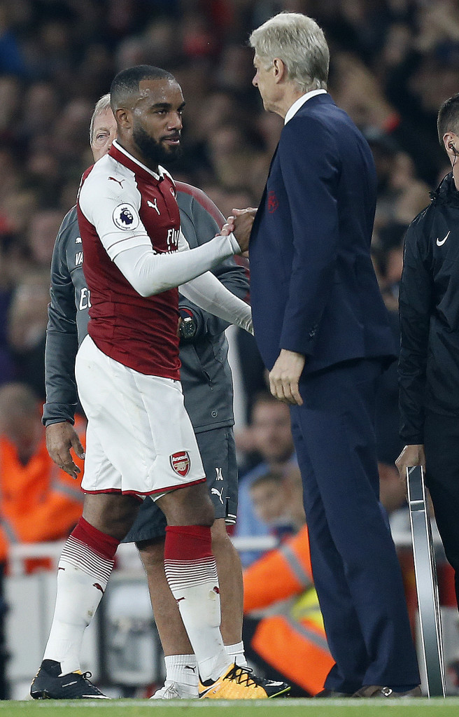 Wenger says Lacazette recovered from his injury in time to face Manchester United.