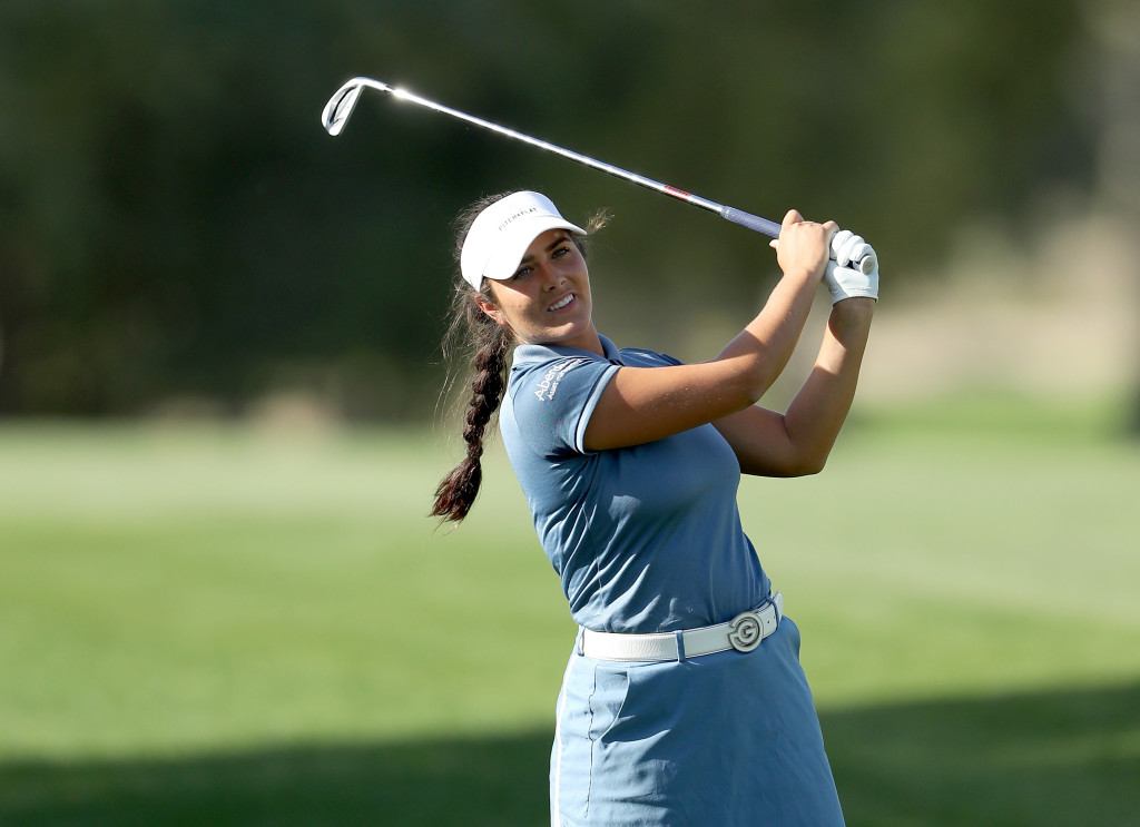 Kelsey Macdonald had a stunning round to move into contention.