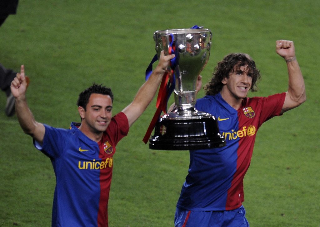 Carles Puyol played for 15 years at Barcelona, retiring in 2014.