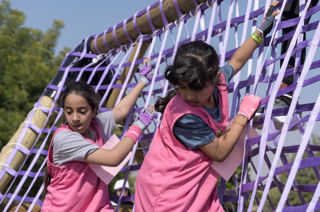 The young contestants were put through a series of obstacles.