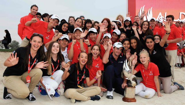 2015 winner Gary Stal with young volunteers