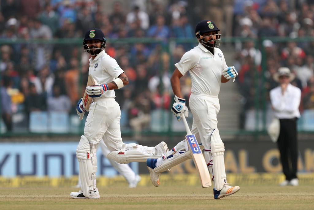 Batsmen have prospered on a flat deck at the Feroz Shah Kotla stadium.