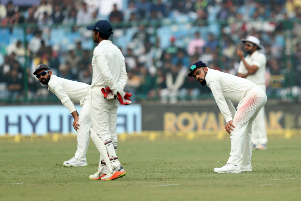 Skipper Virat Kohli was himself guilty of dropping a a sitter at slip.