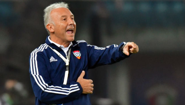 Alberto Zaccheroni replaced Edgardo Bauza as UAE head coach in October 2017.