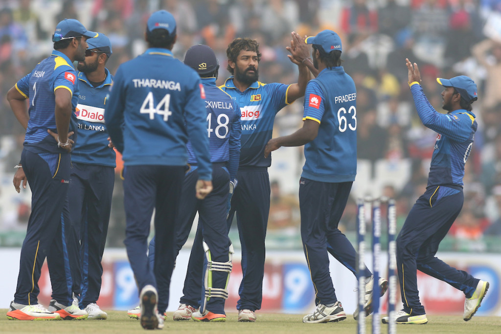 The Sri Lankan bowlers didn't have much to celebrate in Mohali.