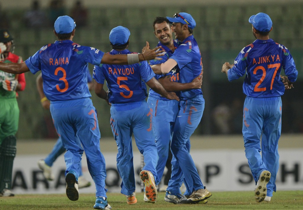 Binny's destructive spell helped India defend the low total.